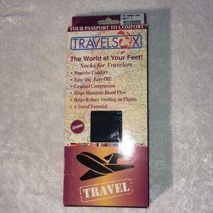 TravelSox L Navy travel socks. Unisex